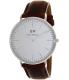Daniel Wellington Men's Classic St. Mawes 0207DW Brown Leather Quartz Watch - Main Image Swatch