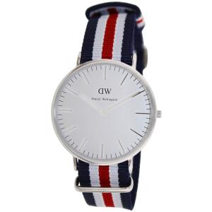 Daniel Wellington Men's Classic Canterbury 0202DW Blue Cloth Quartz Watch
