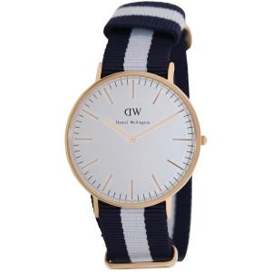 Daniel Wellington Men's Classic Glasgow 0104DW Blue Cloth Quartz Watch