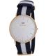 Daniel Wellington Men's Classic Glasgow 0104DW Blue Cloth Quartz Watch - Main Image Swatch