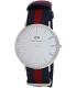 Daniel Wellington Men's Classic Oxford 0201DW Blue Cloth Quartz Watch - Main Image Swatch