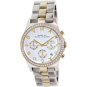 Marc by Marc Jacobs Women's Henry Chrono MBM3197 Silver Stainless-Steel Quartz Watch