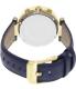 Michael Kors Women's Parker MK2280 Blue Leather Quartz Watch - Back Image Swatch