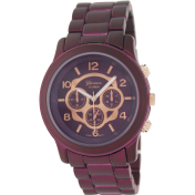 Geneva Platinum Women's 2243.PURPLE Purple Plastic Quartz Watch