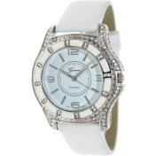 Geneva Platinum Women's 6389.WHITE.SILVER White Polyurethane Quartz Watch