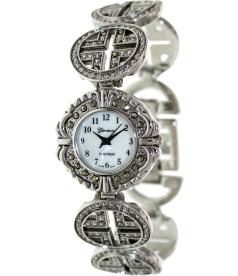Geneva Platinum Women's 7497.MARCASITE Mother-Of-Pearl Metal Quartz Watch