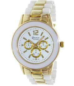 Geneva Platinum Women's 9223.WHITE.GOLD White Plastic Quartz Watch