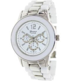 Geneva Platinum Women's 9223.WHITE.SILVER White Metal Quartz Watch