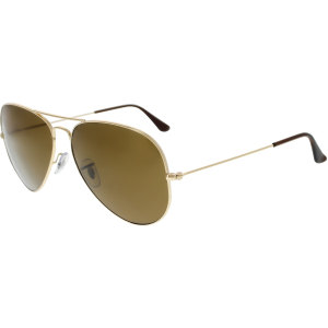 Ray-Ban Men's Polarized Aviator RB3025-001/57-62 Gold Aviator Sunglasses
