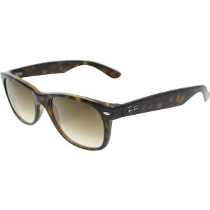Ray-Ban Women's New Wayfarer RB2132-710/51-55 Brown Wayfarer Sunglasses