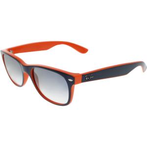 Ray-Ban Men's New Wayfarer RB2132-789/3F-55 Orange Wayfarer Sunglasses