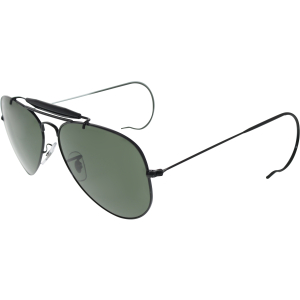 Ray-Ban Men's Outdoorsman RB3030-L9500-58 Black Aviator Sunglasses