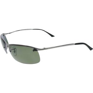 Ray-Ban Men's Polarized  RB3183-004/9A-63 Silver Semi-Rimless Sunglasses