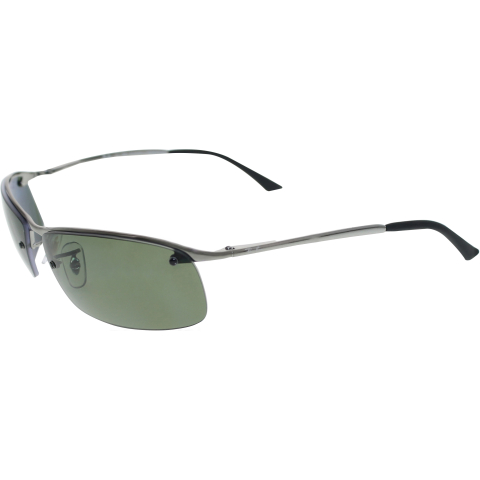 Ray-Ban Men's Polarized RB3183 RB3183-004/9A-63 Silver Semi-Rimless Sunglasses