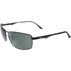 Ray-Ban Men's  RB3498-002/71-64 Black Rectangle Sunglasses