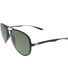 Ray-Ban Men's Polarized Liteforce RB4180-601S/9A-58 Black Aviator Sunglasses