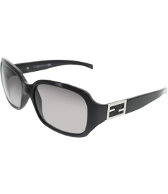 Fendi Women's  5229R-001-59 Black Square Sunglasses