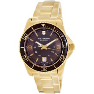 Victorinox Swiss Army Men's Maverick 241607 Gold Stainless-Steel Swiss Quartz Watch