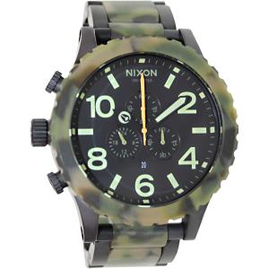 Nixon Men's 51-30 Chrono A0831428 Black Stainless-Steel Quartz Watch