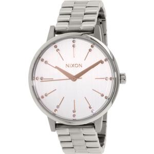 Nixon Women's Kensington A0991519 Silver Stainless-Steel Quartz Watch