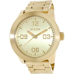 Nixon Men's Corporal Ss A346502 Gold Stainless-Steel Quartz Watch