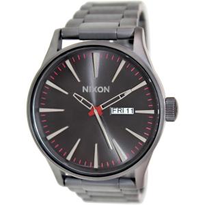 Nixon Men's Sentry Ss A356131 Black Stainless-Steel Quartz Watch