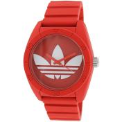 Adidas Men's Santiago ADH6168 Red Rubber Quartz Watch
