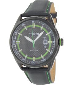 Citizen Men's Eco-Drive AW1184-05E Black Leather Eco-Drive Watch