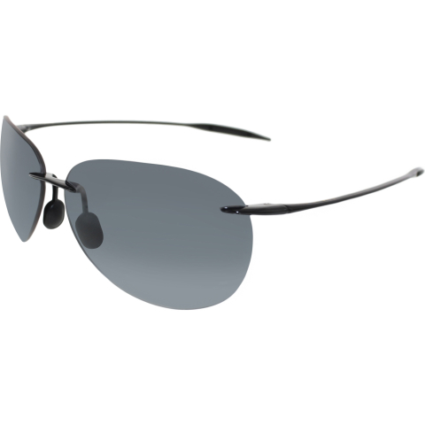 Maui Jim Men's Sugar Beach 421-02 Black Rimless Sunglasses