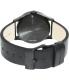 Nixon Men's Sentry Leather A105001 Black Leather Quartz Watch - Back Image Swatch