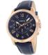 Fossil Men's Grant FS4835 Blue Leather Analog Quartz Watch - Main Image Swatch