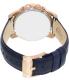 Fossil Men's Grant FS4835 Blue Leather Analog Quartz Watch - Back Image Swatch