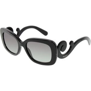 Prada Women's Gradient  PR27OS-1AB3M1-54 Black Rectangle Sunglasses