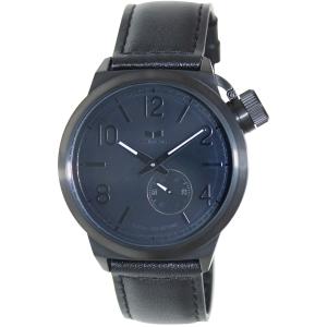 Vestal Men's Canteen CTN3L02 Black Leather Quartz Watch
