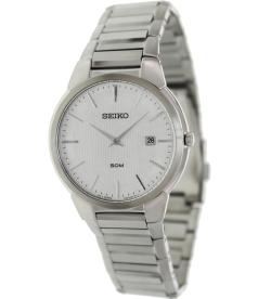 Seiko Men's SKP295 Silver Stainless-Steel Quartz Watch