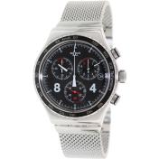 Swatch Men's Irony YVS401G Black Stainless-Steel Swiss Quartz Watch