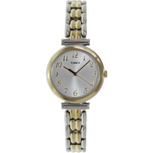 Timex Women's Elevated Classics T2P201 Silver Metal Analog Quartz Watch