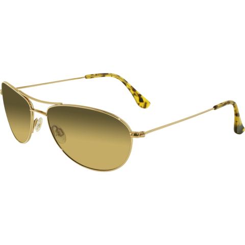 Maui Jim Women's Gradient Baby Beach HS245-16 Gold Aviator Sunglasses