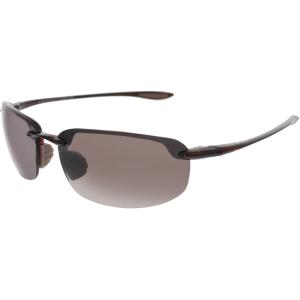 Maui Jim Men's Polarized Ho'Okipa R407-10 Brown Wrap Sunglasses