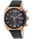 Diesel Men's Overflow DZ4297 Black Leather Quartz Watch - Main Image Swatch