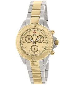 Swiss Precimax Women's Manhattan Elite SP12180 Gold Stainless-Steel Swiss Chronograph Watch