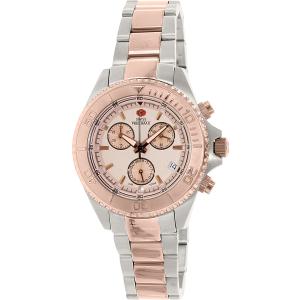 Swiss Precimax Women's Manhattan Elite SP12183 Rose-Gold Stainless-Steel Swiss Chronograph Watch