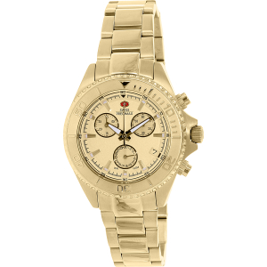 Swiss Precimax Women's Manhattan Elite SP12184 Gold Stainless-Steel Swiss Chronograph Watch
