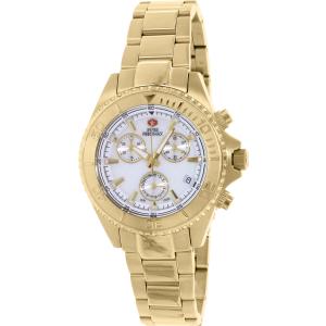 Swiss Precimax Women's Manhattan Elite SP12186 Gold Stainless-Steel Swiss Chronograph Watch