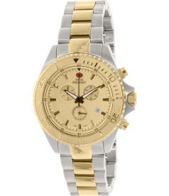 Swiss Precimax Men's Maritime Pro SP12196 Gold Stainless-Steel Swiss Chronograph Watch