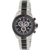 Swiss Precimax Men's Maritime Pro SP12197 Black Stainless-Steel Swiss Chronograph Watch