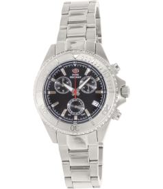 Swiss Precimax Women's Manhattan Elite SP13307 Black Stainless-Steel Swiss Chronograph Watch