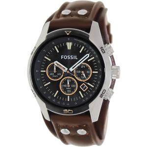 Fossil Men's Coachman CH2891 Brown Leather Quartz Watch