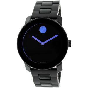 Movado Men's Bold 3600099 Black Stainless-Steel Swiss Quartz Watch