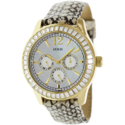 Guess Women's U13544L1 Mother-Of-Pearl Leather Quartz Watch